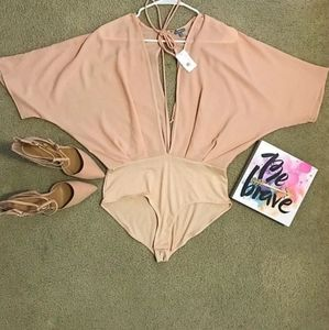 Blush with me heels and bodysuit